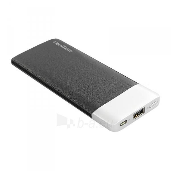 Išorinė baterija Power bank Qoltec 6000mAh Li-poly, black Paveikslėlis 1 iš 3 310820053676