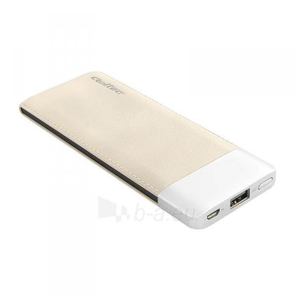Išorinė baterija Power bank Qoltec 6000mAh Li-poly, caffee Paveikslėlis 1 iš 4 310820053677
