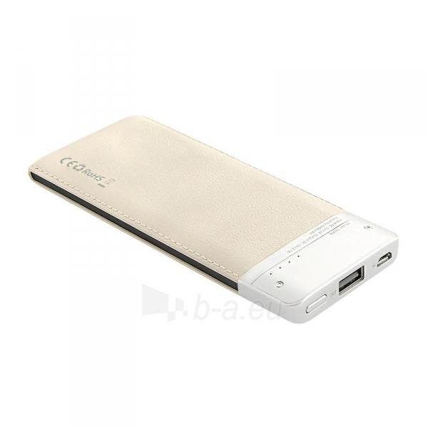 Išorinė baterija Power bank Qoltec 6000mAh Li-poly, caffee Paveikslėlis 2 iš 4 310820053677