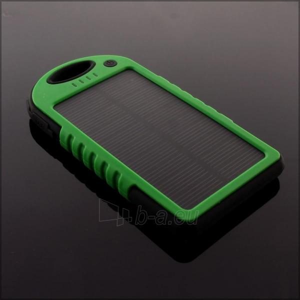 Power Bank su saulės baterija PowerNeed 1.2W 5000mAh, green Paveikslėlis 9 iš 10 250232002666