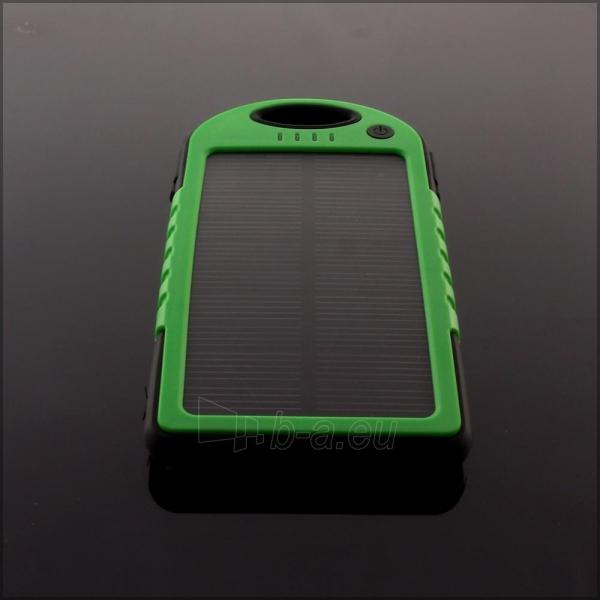 Power Bank su saulės baterija PowerNeed 1.2W 5000mAh, green Paveikslėlis 8 iš 10 250232002666