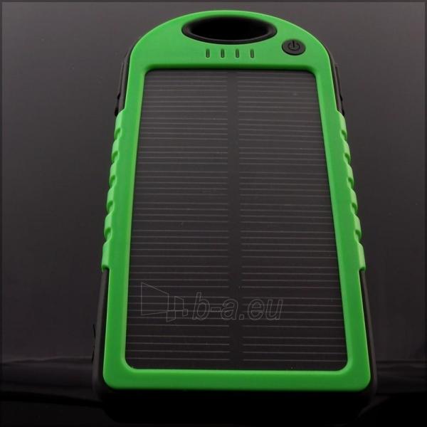 Power Bank su saulės baterija PowerNeed 1.2W 5000mAh, green Paveikslėlis 6 iš 10 250232002666