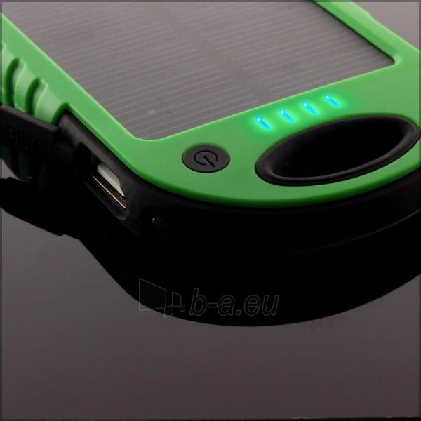 Power Bank su saulės baterija PowerNeed 1.2W 5000mAh, green Paveikslėlis 4 iš 10 250232002666