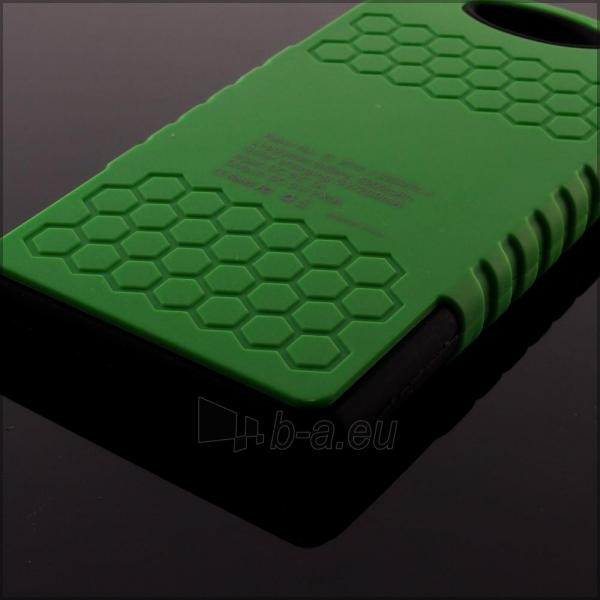 Power Bank su saulės baterija PowerNeed 1.2W 5000mAh, green Paveikslėlis 2 iš 10 250232002666