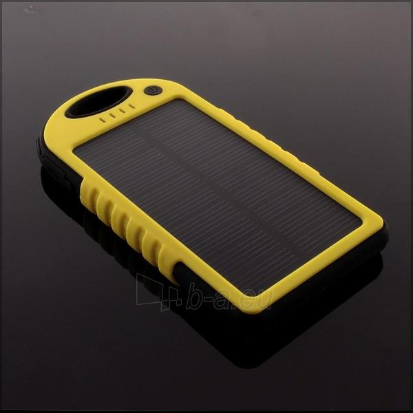 Power Bank su saulės baterija PowerNeed 1.2W 5000mAh, yellow Paveikslėlis 9 iš 10 250232002667