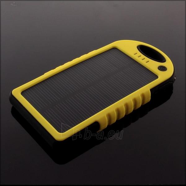 Power Bank su saulės baterija PowerNeed 1.2W 5000mAh, yellow Paveikslėlis 8 iš 10 250232002667