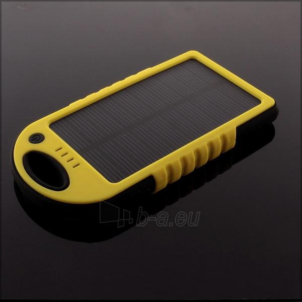 Power Bank su saulės baterija PowerNeed 1.2W 5000mAh, yellow Paveikslėlis 6 iš 10 250232002667