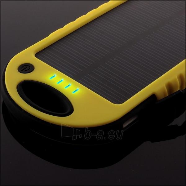 Power Bank su saulės baterija PowerNeed 1.2W 5000mAh, yellow Paveikslėlis 5 iš 10 250232002667