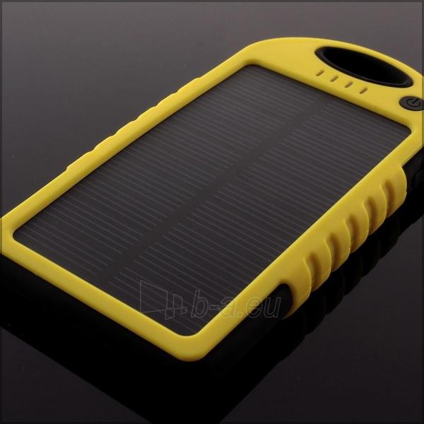 Power Bank su saulės baterija PowerNeed 1.2W 5000mAh, yellow Paveikslėlis 3 iš 10 250232002667