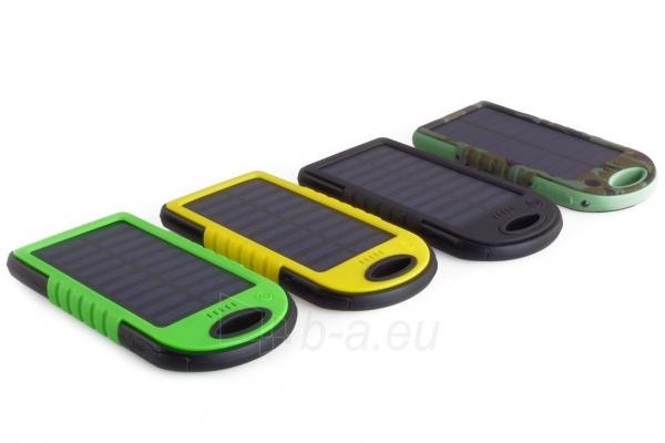 Power Bank su saulės baterija PowerNeed 1.2W 5000mAh, yellow Paveikslėlis 10 iš 10 250232002667