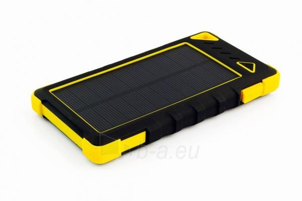 Power Bank su saulės baterija PowerNeed Sunen 1W 8000mAh, geltonas Paveikslėlis 1 iš 7 310820044247