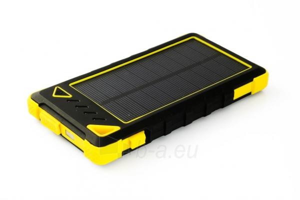 Power Bank su saulės baterija PowerNeed Sunen 1W 8000mAh, geltonas Paveikslėlis 2 iš 7 310820044247