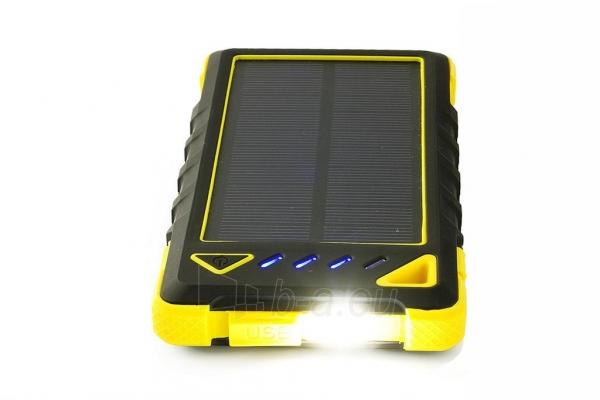 Power Bank su saulės baterija PowerNeed Sunen 1W 8000mAh, geltonas Paveikslėlis 4 iš 7 310820044247