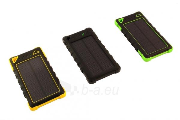 Power Bank su saulės baterija PowerNeed Sunen 1W 8000mAh, geltonas Paveikslėlis 7 iš 7 310820044247