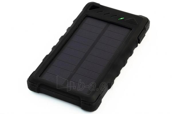 Power Bank su saulės baterija PowerNeed Sunen 1W 8000mAh, juodas Paveikslėlis 1 iš 7 310820044245