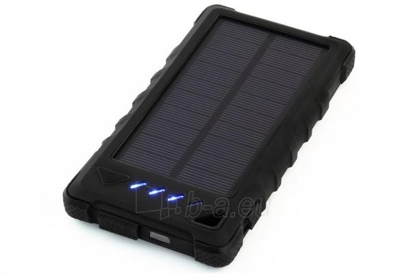 Power Bank su saulės baterija PowerNeed Sunen 1W 8000mAh, juodas Paveikslėlis 2 iš 7 310820044245