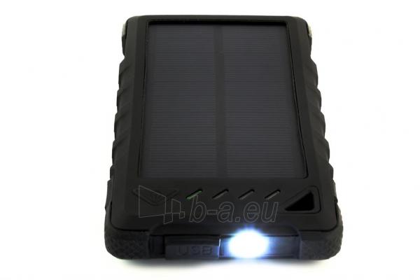 Power Bank su saulės baterija PowerNeed Sunen 1W 8000mAh, juodas Paveikslėlis 4 iš 7 310820044245