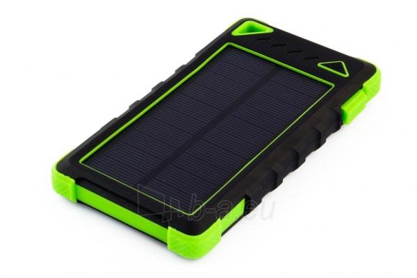 Power Bank su saulės baterija PowerNeed Sunen 1W 8000mAh, žalias Paveikslėlis 1 iš 6 310820044246