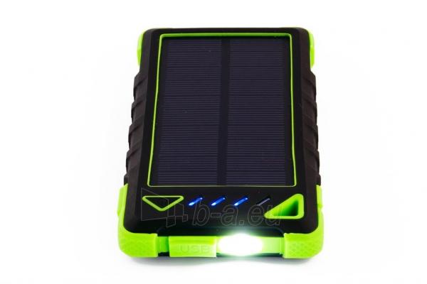 Power Bank su saulės baterija PowerNeed Sunen 1W 8000mAh, žalias Paveikslėlis 2 iš 6 310820044246