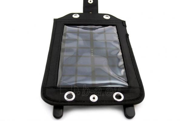 Išorinė baterija PowerNeed Sunen Solar charger 2.5W with Power Bank 3000mAh Li-Poly, black Paveikslėlis 2 iš 7 310820044147