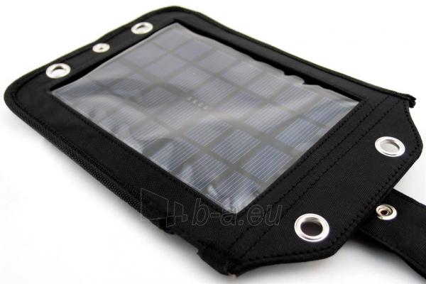 Išorinė baterija PowerNeed Sunen Solar charger 2.5W with Power Bank 3000mAh Li-Poly, black Paveikslėlis 3 iš 7 310820044147
