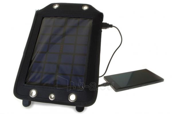 Išorinė baterija PowerNeed Sunen Solar charger 2.5W with Power Bank 3000mAh Li-Poly, black Paveikslėlis 7 iš 7 310820044147