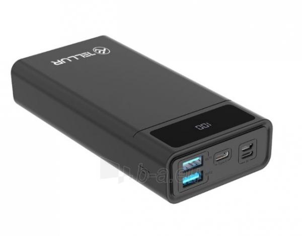 Išorinė baterija Tellur PD200 Power Bank 20000mAh black Paveikslėlis 2 iš 4 310820229603