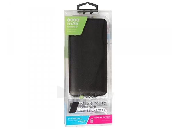 Išorinė baterija Tracer Mobile Battery 8000mAh Slim black 46439 Paveikslėlis 3 iš 4 310820215754
