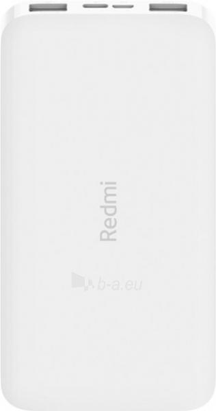 Išorinė baterija Xiaomi Redmi (10000mAh) white (PB100LZM) Paveikslėlis 1 iš 6 310820215789