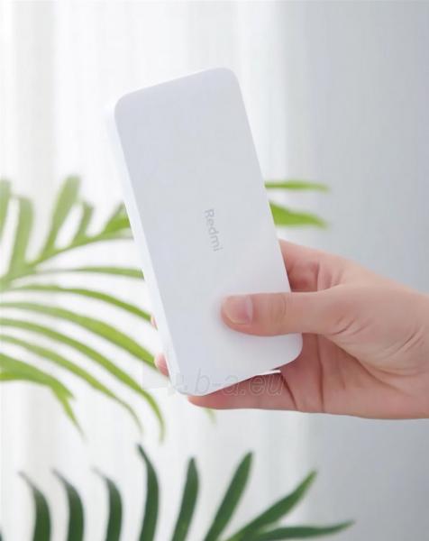 Išorinė baterija Xiaomi Redmi (10000mAh) white (PB100LZM) Paveikslėlis 5 iš 6 310820215789