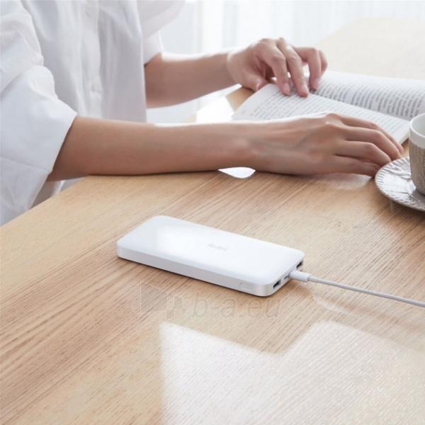 Išorinė baterija Xiaomi Redmi (10000mAh) white (PB100LZM) Paveikslėlis 6 iš 6 310820215789