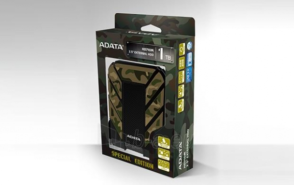 Išorinis diskas Adata HD710M Camouflage 2.5inch 1TB USB3.0, Rugged IP6X IPX8 Paveikslėlis 5 iš 5 310820037423