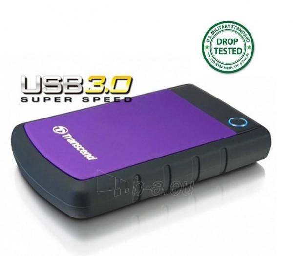 Išorinis diskas Transcend 25H3P 2.5 500GB USB3, Triguba smūgių slopinimo sist. Paveikslėlis 1 iš 1 250255521802