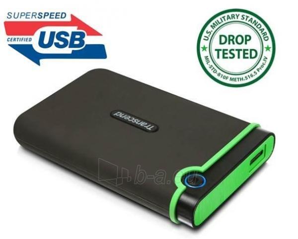 Išorinis diskas Transcend 25M3 2.5 500GB USB3, JAV karinis standartas Paveikslėlis 1 iš 2 250255521649