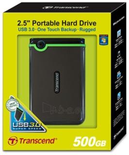 Išorinis diskas Transcend 25M3 2.5 500GB USB3, JAV karinis standartas Paveikslėlis 2 iš 2 250255521649