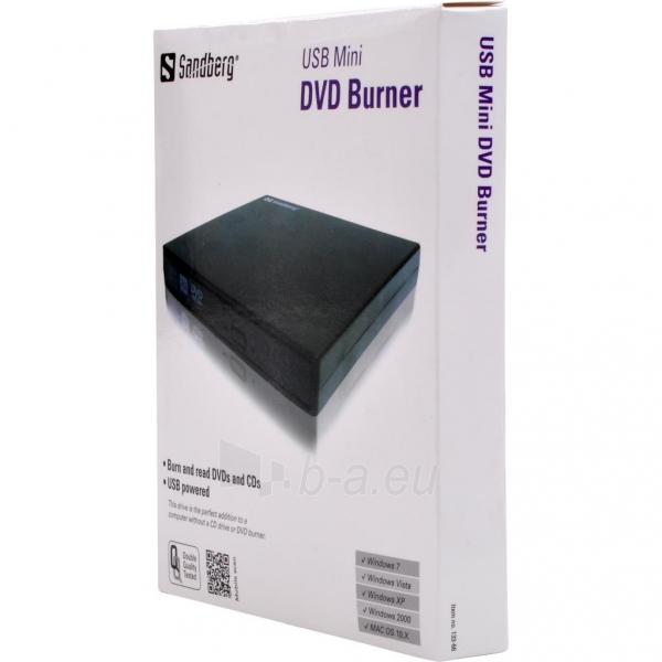 Išorinis DVD įrašymo įrenginys Sandberg Mini, USB Paveikslėlis 2 iš 2 250255521871