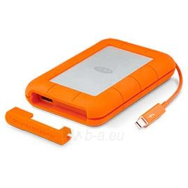 Išorinis Hard drive External HDD LaCie Rugged V2 2.5 2TB USB3 Thunderbolt, IP54 rated resistance Paveikslėlis 1 iš 1 310820039827