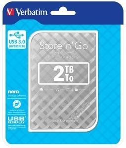 Išorinis kietasis diskas External HDD Verbatim Store & Go GEN 2, 2.5inch, 2TB, USB 3.0, Silver Paveikslėlis 1 iš 4 310820042115