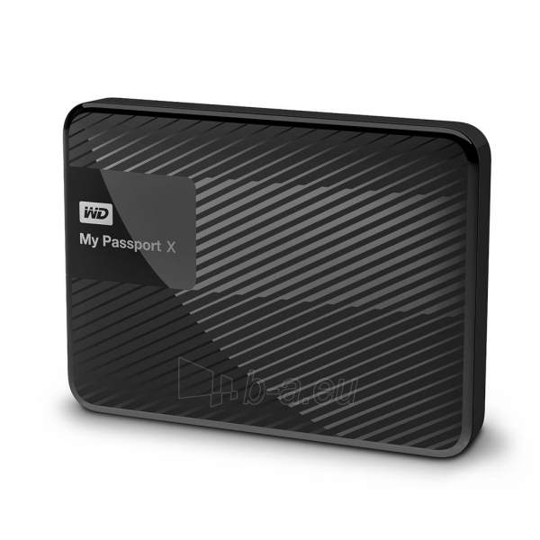 Išorinis Hard drive External HDD WD My Passport X 2.5 3TB USB 3.0 Black Paveikslėlis 1 iš 6 310820037451