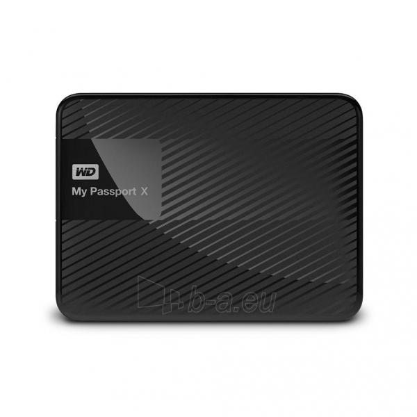 Išorinis Hard drive External HDD WD My Passport X 2.5 3TB USB 3.0 Black Paveikslėlis 2 iš 6 310820037451