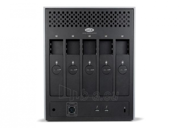 Išorinis kietasis diskas LaCie 5Big Thunderbolt2 30TB, 7200RP, 2xThunderbolt, RAID 0,5, JBOD Paveikslėlis 2 iš 4 310820037472