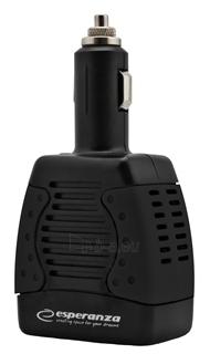 Įtampos inverteris Esperanza 75W EZ104K | DC 12V/AC 220-230V | 1x USB 5V 1,5A Paveikslėlis 3 iš 5 250256400858