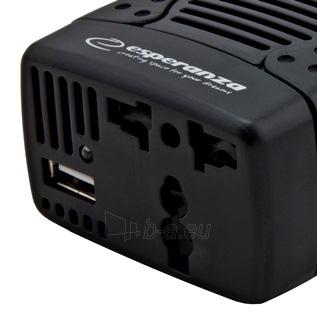 Įtampos inverteris Esperanza 75W EZ104K | DC 12V/AC 220-230V | 1x USB 5V 1,5A Paveikslėlis 4 iš 5 250256400858