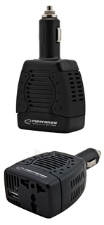 Įtampos inverteris Esperanza 75W EZ104K | DC 12V/AC 220-230V | 1x USB 5V 1,5A Paveikslėlis 5 iš 5 250256400858
