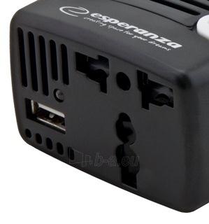 Įtampos inverteris Esperanza 75W EZ104W   DC 12V/AC 220-230V   USB 5V 1500mA Paveikslėlis 4 iš 4 250256400859
