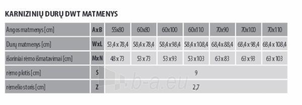 Itin geros termoizoliacijos karnizinės durys DWT 55x80 cm. Paveikslėlis 4 iš 4 310820038433