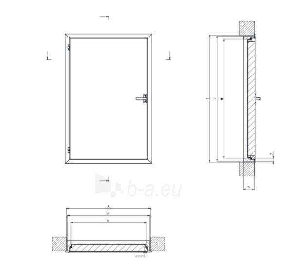 Itin geros termoizoliacijos karnizinės durys DWT 70x90 cm. Paveikslėlis 3 iš 4 310820038437