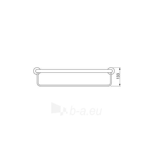Jika Mio rankšluosčių lentynėlė su kabykla, 550mm Paveikslėlis 2 iš 3 270717000352