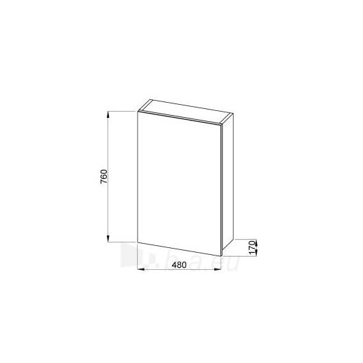 Jika Olymp veidrodinė spintelė 50cm, ąžuolas Paveikslėlis 1 iš 3 30057400139