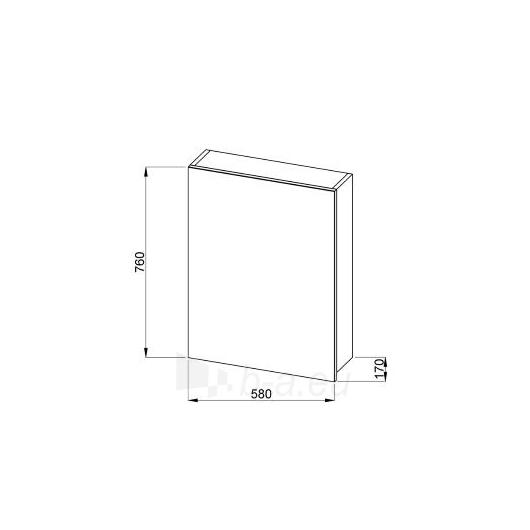 Jika Olymp veidrodinė spintelė 60cm, ąžuolas Paveikslėlis 1 iš 2 30057400142